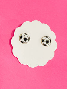 Goalllll Soccer Stud Earrings