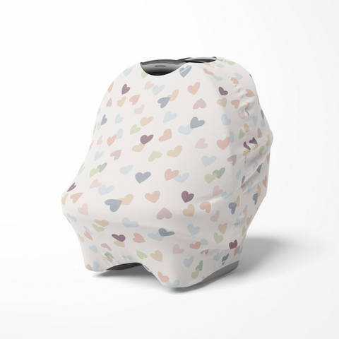 Multi-Use Baby Cover - Hearts
