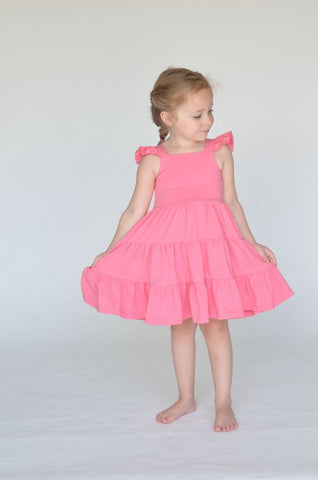 Arya Dress in Bubblegum