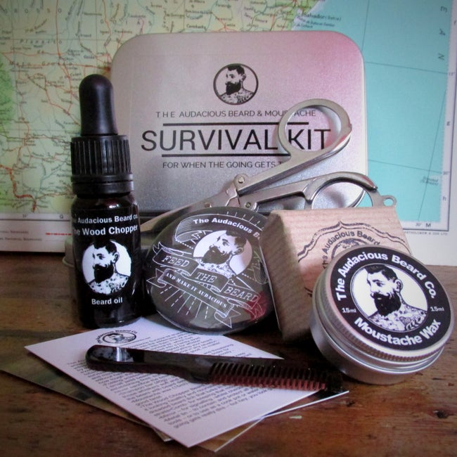 The Audacious Beard and Moustache Survival Kit