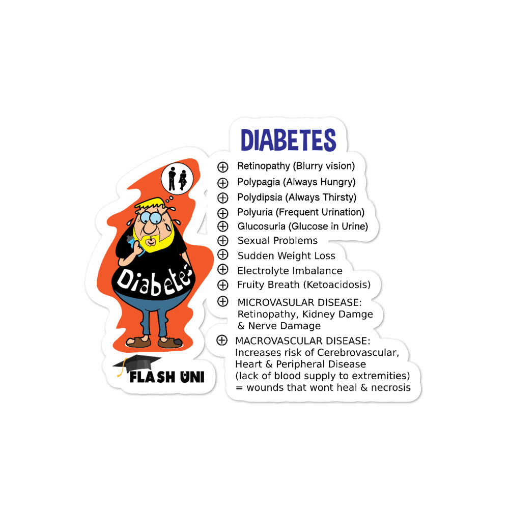 Diabetes Sticker for Nurses and Doctors