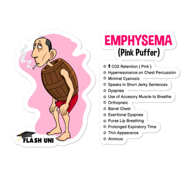 Emphysema Sticker for Nurses and Doctors