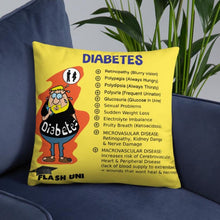Load image into Gallery viewer, Diabetes Pillow - Yellow