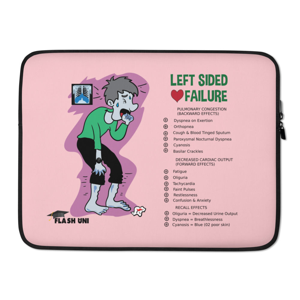 Left Sided Heart Failure - 15 inch - Pink