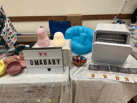 Omababy's Booth at Rockingham Baby Fair
