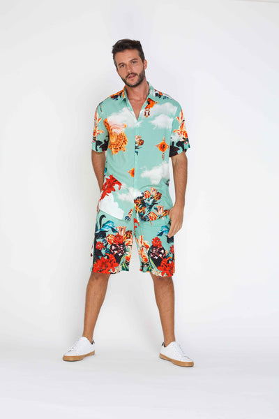 Mens Shorts - Neptune Pattern