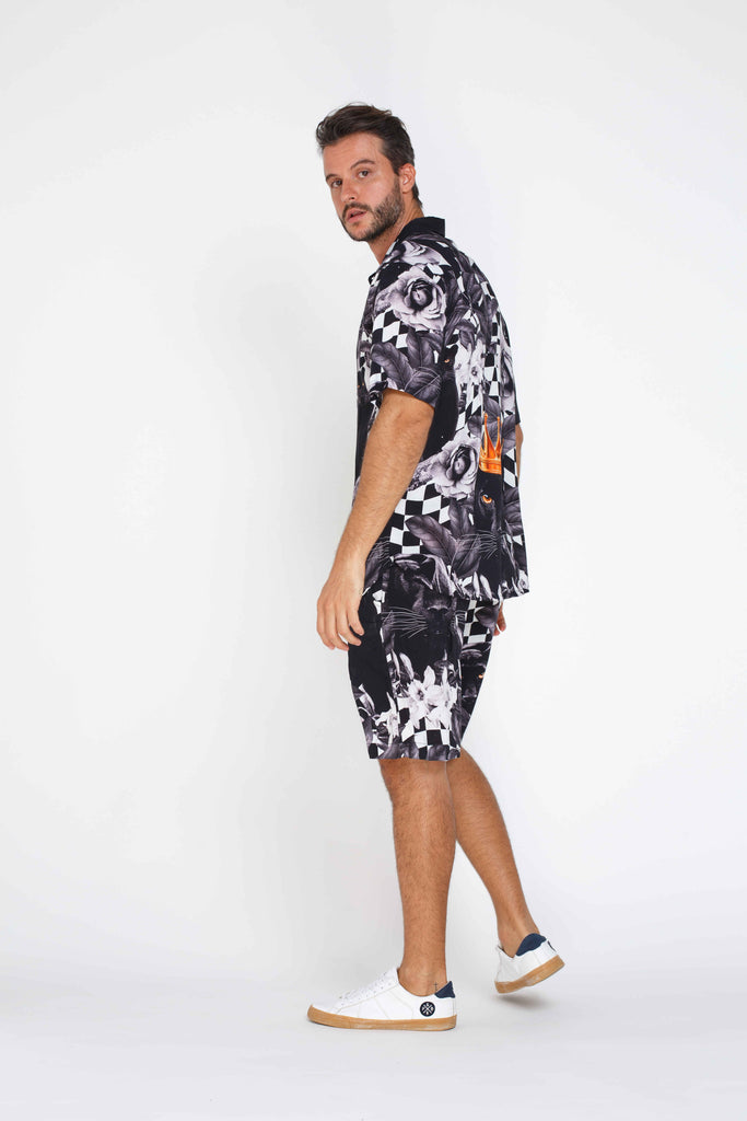 Mens Shorts - Panther Pattern