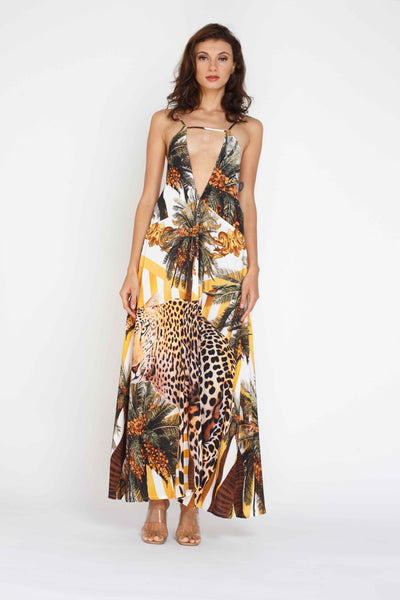 Mona Maxi Dress - Leopard Print