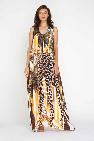Lisa Maxi Dress - Leopard Print