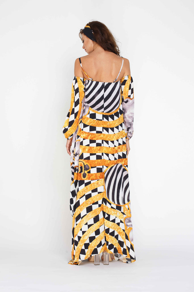 Pearl Maxi Dress - Panther Pattern