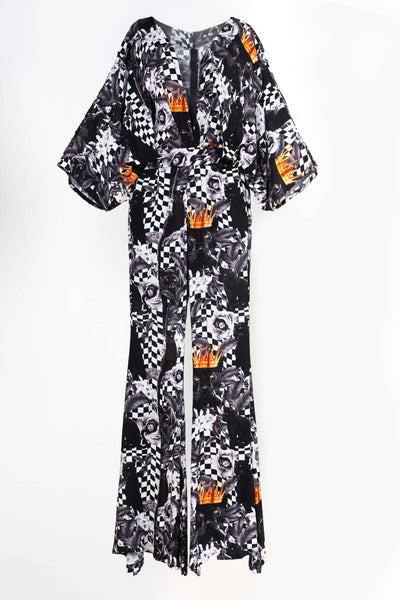 Belle Jumpsuit - Panther Pattern