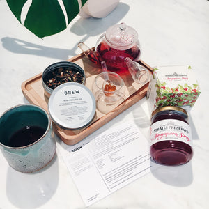 [Tea Pairing] Singapore Sling Marmalade + Rose Moscato Tea