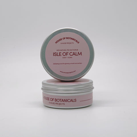 100% Natural Tea Salt Scrub - Isle of Calm