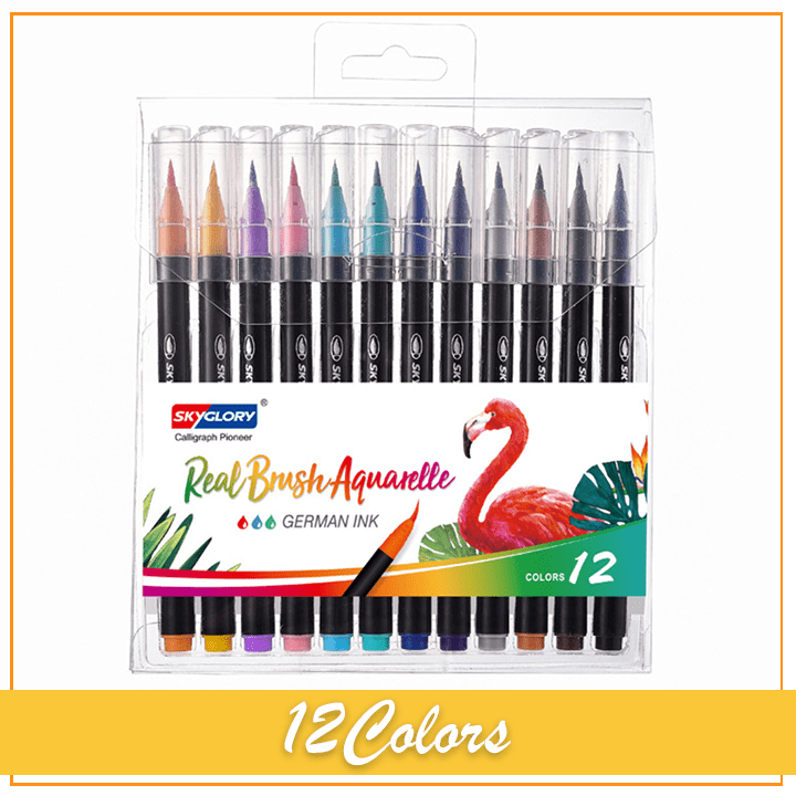 SkyGlory Real Brush Pens (36 Colors)