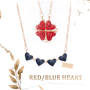 4 Leaf Clover Heart Necklace