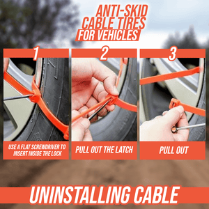 Anti-Skid Cable Ties for Vehicles