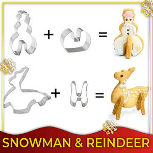 3D Christmas Cookie Cutter Set (18 Pieces)