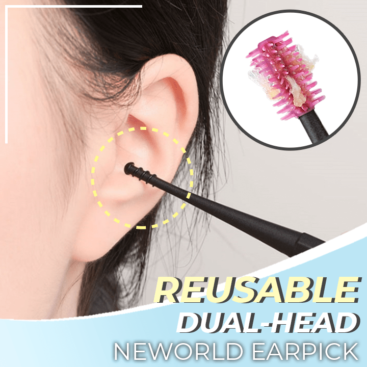 Reusable Dual-Head Silicone Earpick