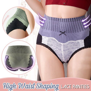 High Waist Shaping Lace Panties