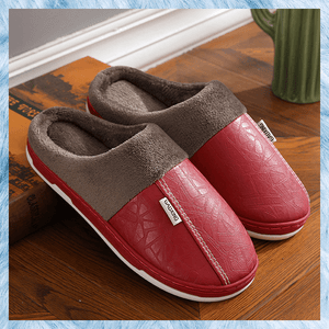 Waterproof PU Warm Slipper