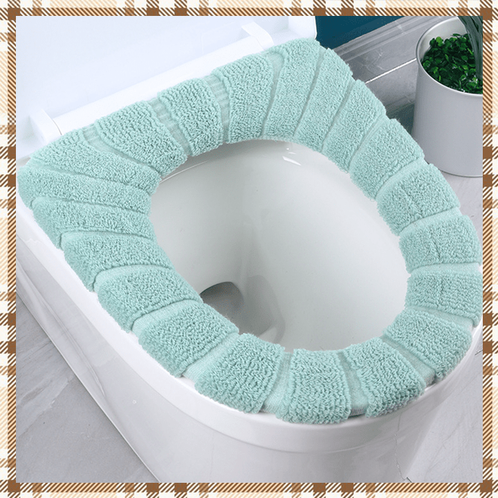 Velvet Toilet Seat Warm Cover