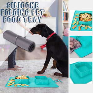 Silicone Folding Pet Food Tray