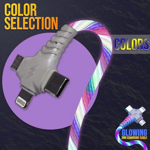 Glowing 3 in 1 Charging Cable
