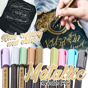 Metallic Marker Pens (10PCS)