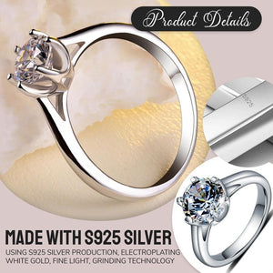 High Shine Simulated Diamond Ring