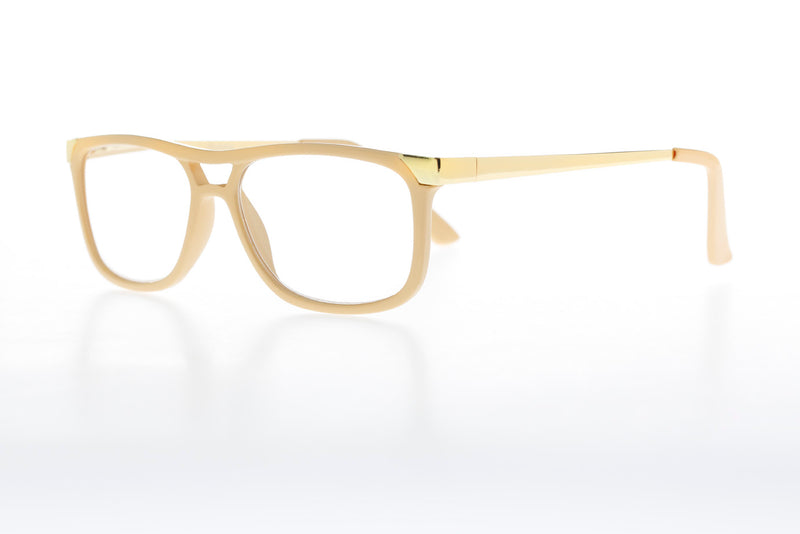 KENNETH créme-gold Reading Glasses