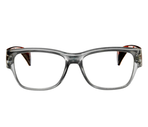 ALEXIA transparent light grey-turtle brown Reading Glasses