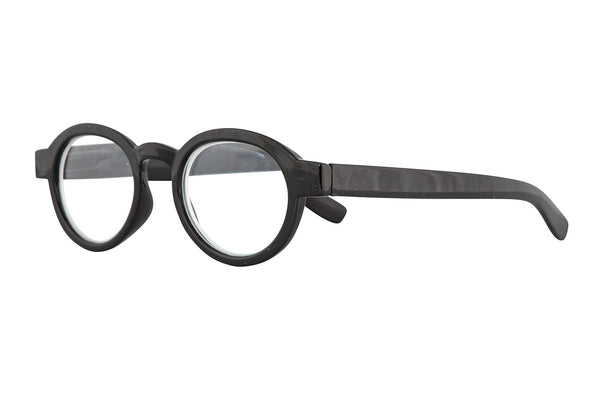 CLOE solid black wood Reading Glasses