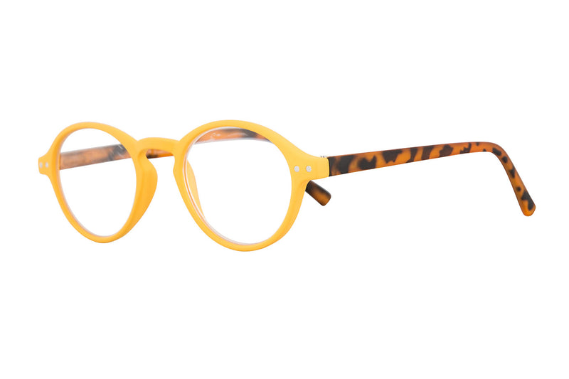 COOPER Yellow rubber Reading Glasses