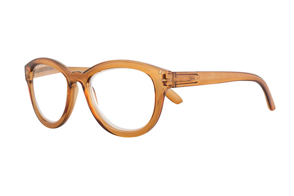 FLORA transp. Light brown Reading Glasses