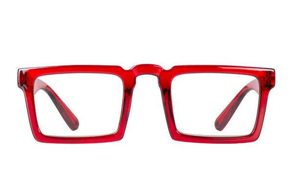GIOVANNI dark red transparent Reading Glasses