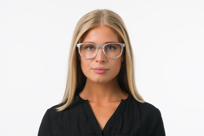AGATA transparent green Reading Glasses