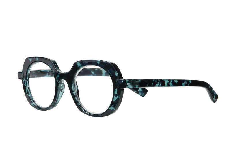 LEONORE turtle turquise Reading Glasses