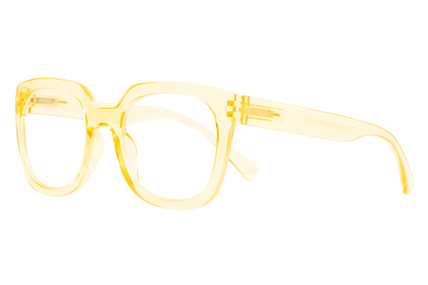 MAGDA transp golden Reading Glasses