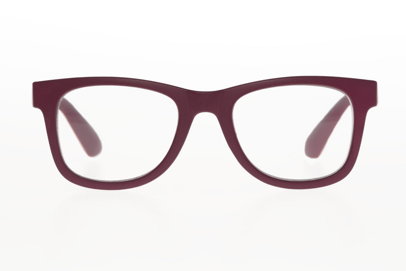 RIGMOR mat solid bordeaux Reading Glasses
