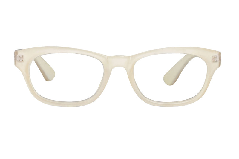 SIMON off-white Reading Glasses