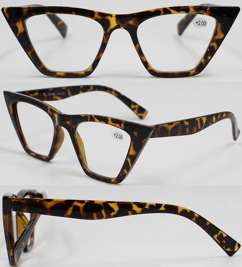 VALERIE turtle brown Reading Glasses