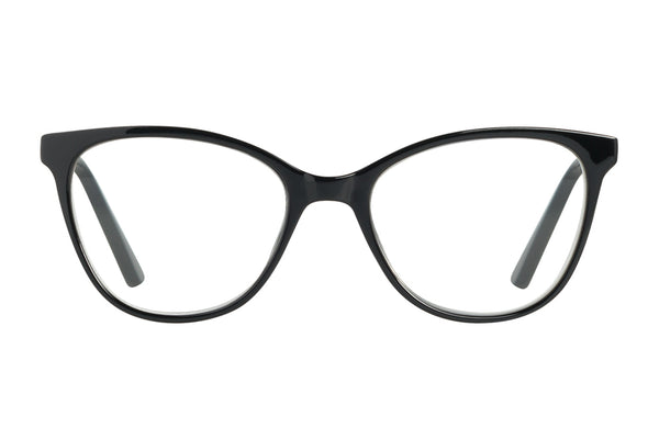 ARETHA solid black Reading glasses
