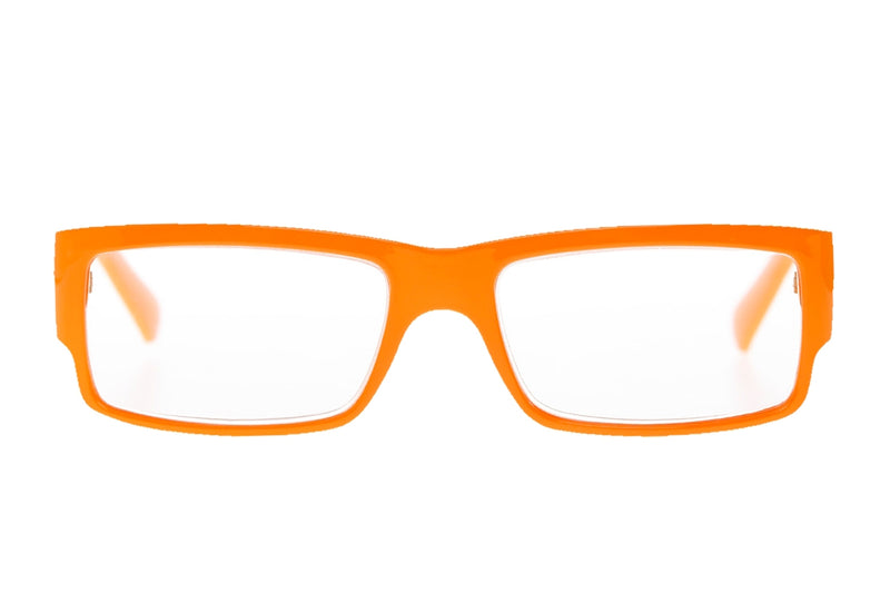 AUGUST solid orange Reading Glasses