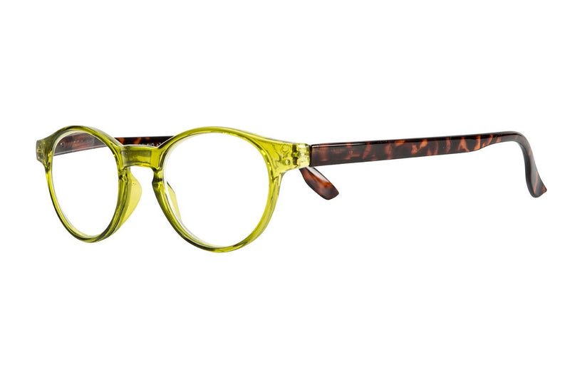BRUNO green-turtle brown Reading Glasses