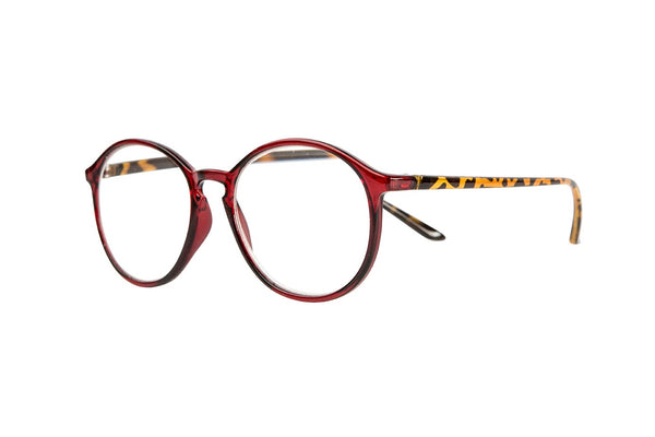 CARLO transparent bordeaux-demi brown Reading Glasses