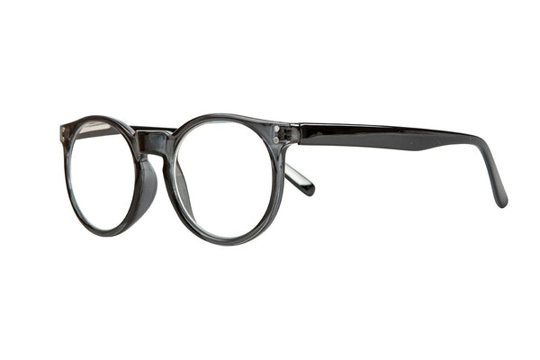 CARRIE transparent grey-solid black Reading glasses