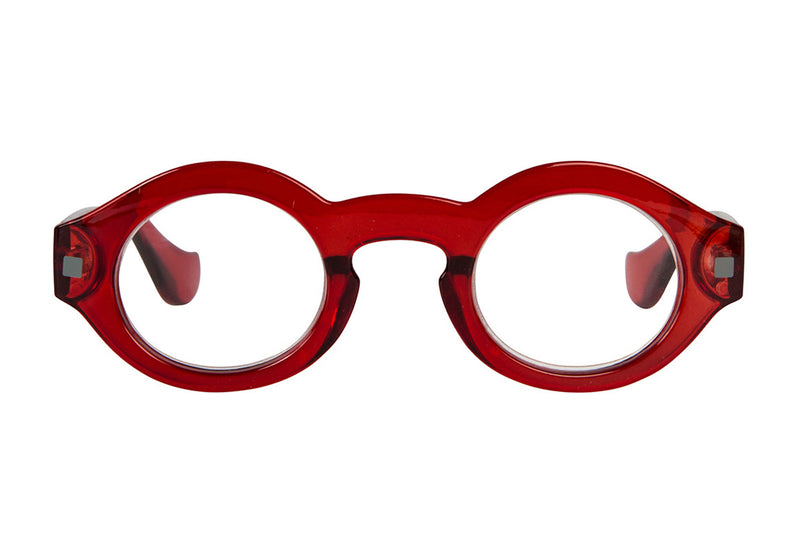 ERNST transparent dark red Reading Glasses