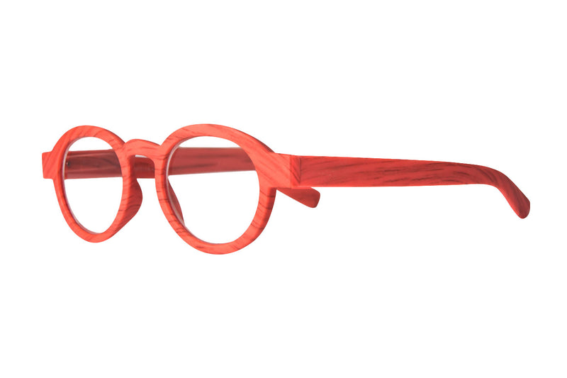 GABRIELLA coral wood-look Reading Glasses