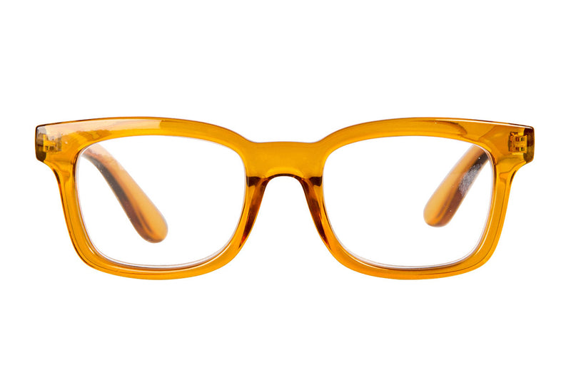 GLORIA transparent mustard Reading Glasses