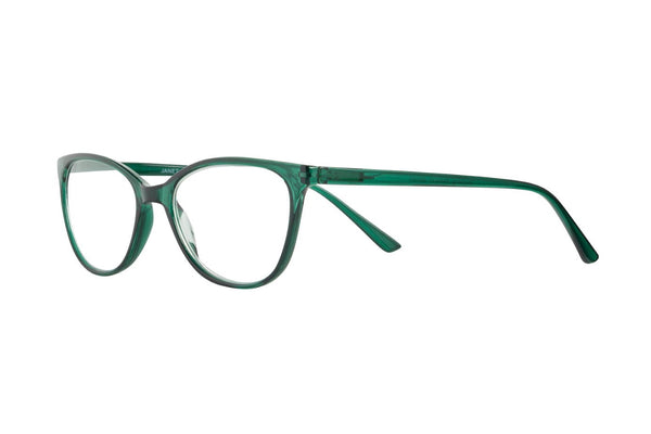 JANET transp bottlegreen Reading Glasses